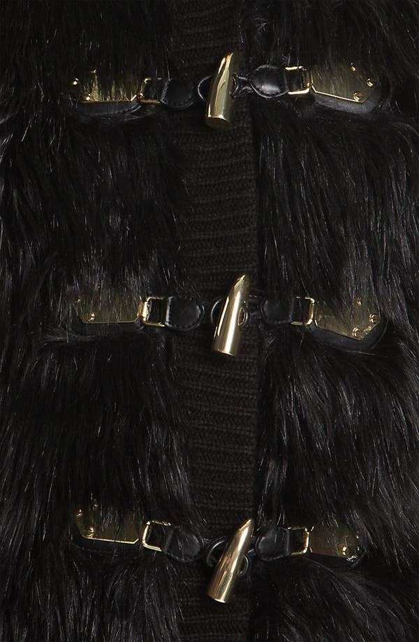 Alternate Image 3  - MICHAEL Michael Kors Faux Fur Front Sweater Vest