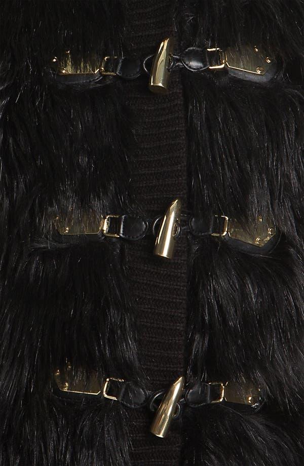 Alternate Image 3  - MICHAEL Michael Kors Faux Fur Front Sweater Vest