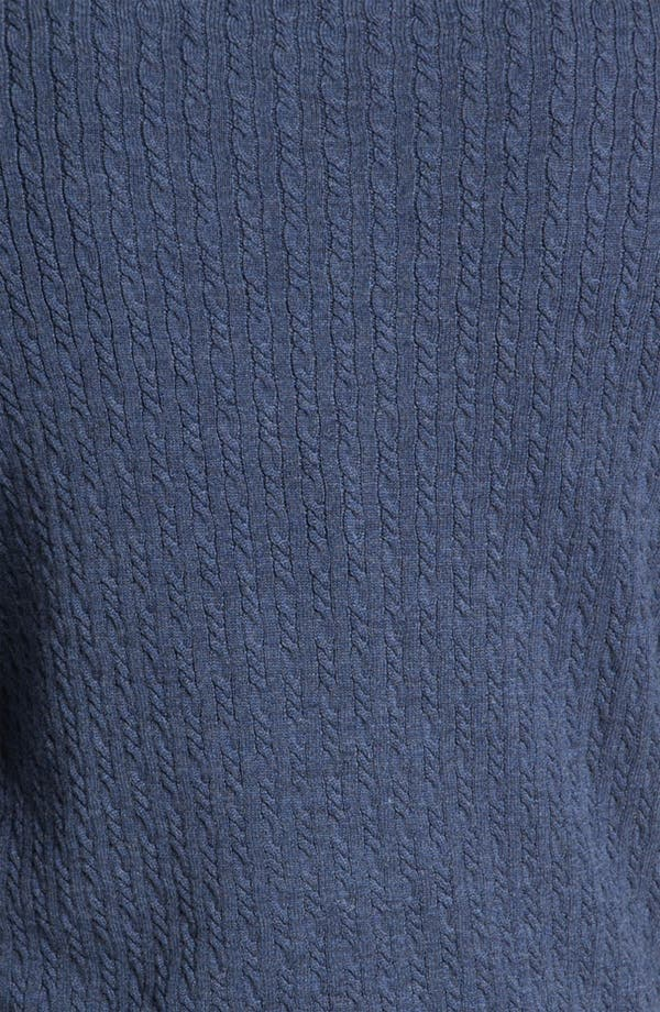 Alternate Image 3  - Robert Talbott Cable Knit Merino Wool Sweater (Online Only)