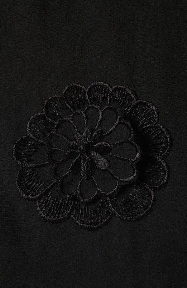 Alternate Image 3  - Topshop Appliqué Flower Peplum Top