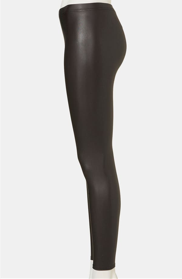 Alternate Image 3  - Topshop Faux Leather Leggings (Petite)