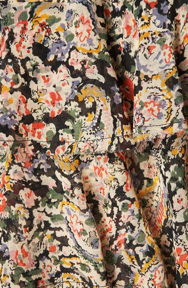 Alternate Image 3  - Topshop 'Lucy' Paisley Print Miniskirt