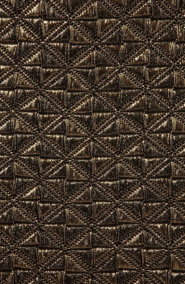 Alternate Image 3  - Topshop Metallic Jacquard Miniskirt