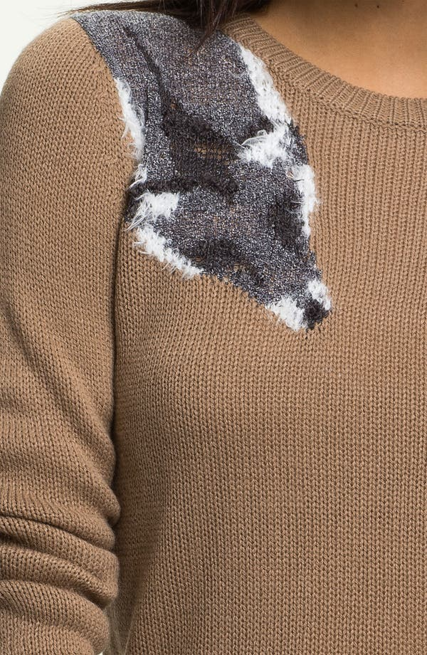 Alternate Image 3  - Frenchi® 'Fox Stole' Sweater (Juniors)