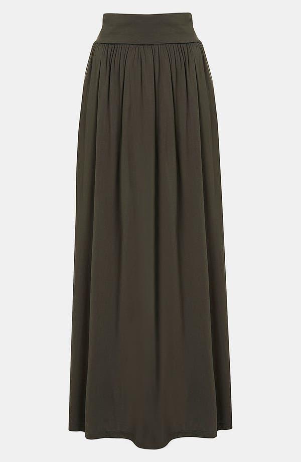 Main Image - Topshop Fold Over Maxi Skirt