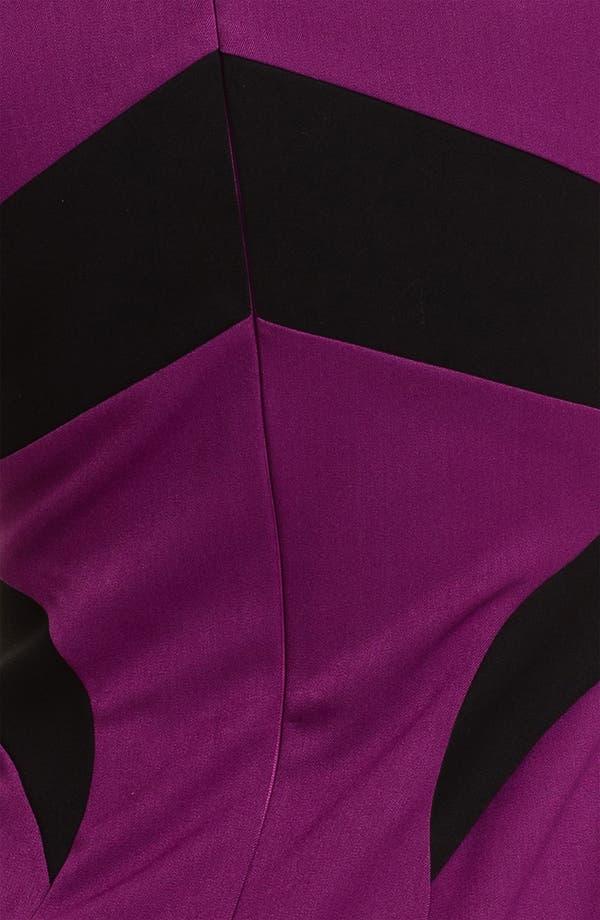 Alternate Image 3  - Black Halo 'Tara' Front Slit Contrast Panel Sheath Dress