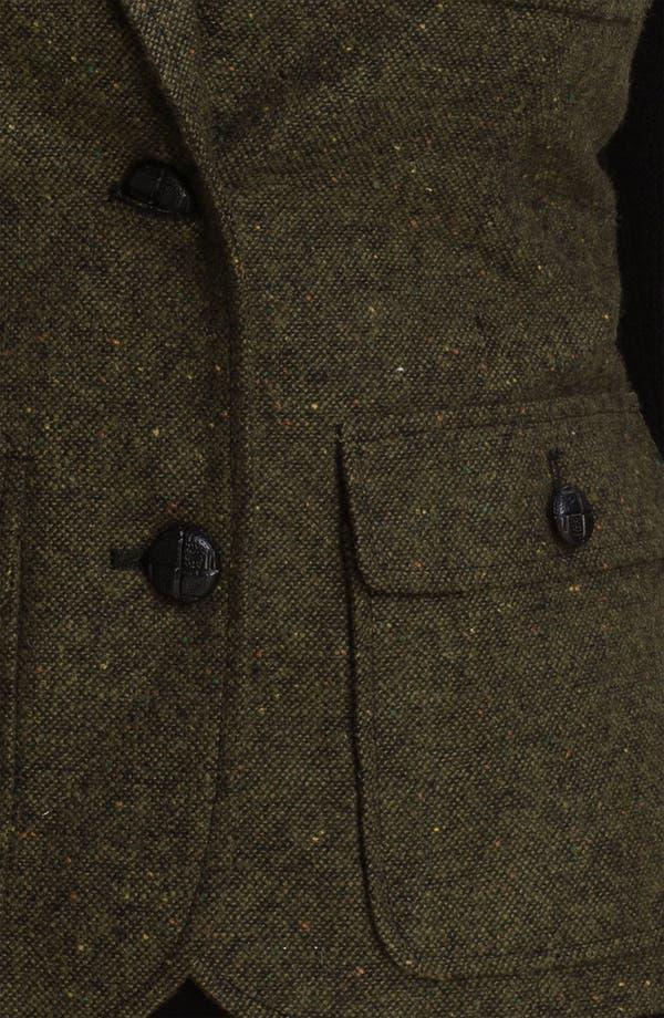 Alternate Image 3  - Kensie Knit Sleeve Tweed Jacket