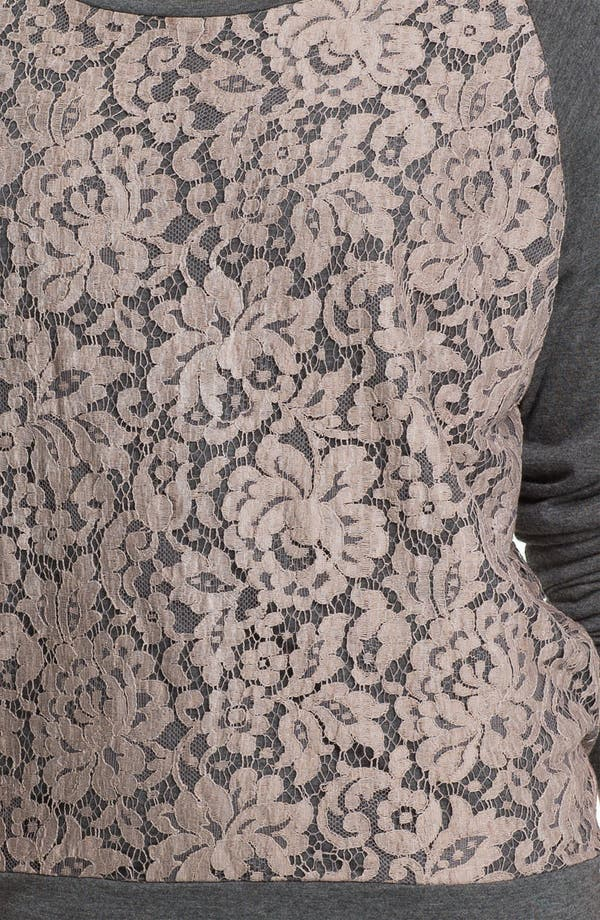 Alternate Image 3  - Haute Hippie Lace Sweatshirt
