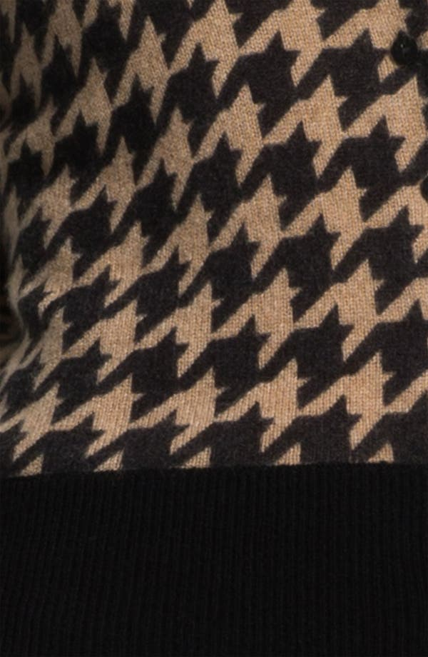 Alternate Image 3  - Only Mine Houndstooth Cashmere Cardigan (Petite)