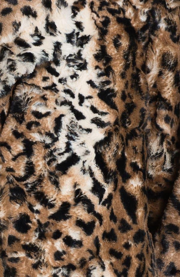 Alternate Image 3  - Chaus Faux Leopard Fur Jacket