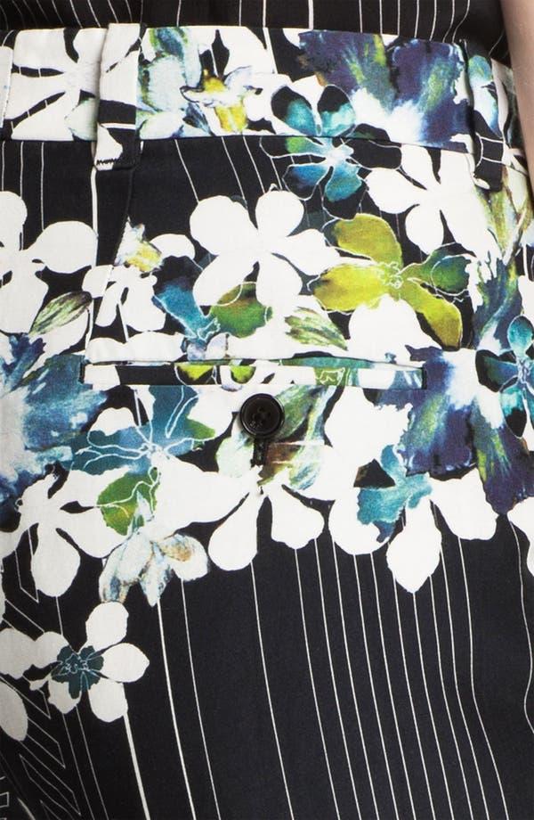Alternate Image 3  - 3.1 Phillip Lim Floral Print Flat Front Trousers