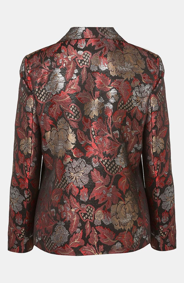 Alternate Image 2  - Topshop Metallic Jacquard Blazer
