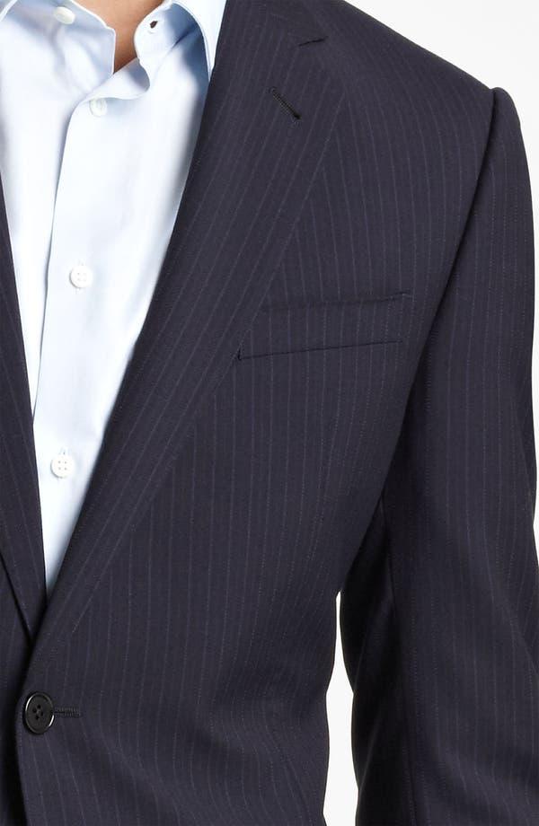 Alternate Image 6  - Armani Collezioni Trim Fit Stripe Suit