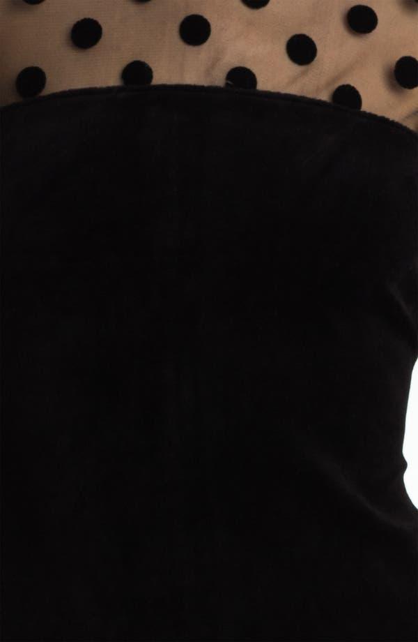 Alternate Image 3  - Juicy Couture Sheer Polka Dot & Velvet Dress