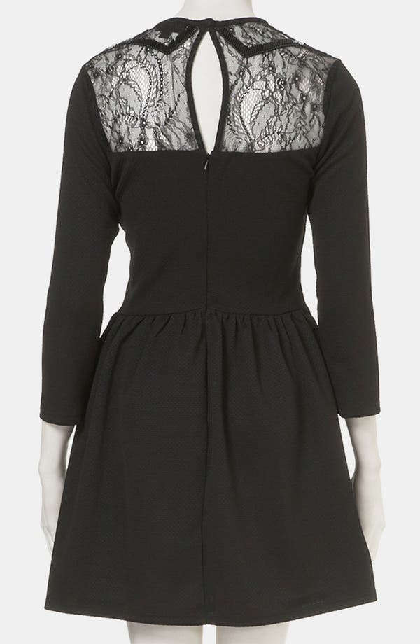 Alternate Image 2  - Topshop Lace Sweetheart Dress