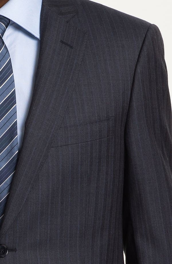 Alternate Image 6  - Pal Zileri Trim Fit Stripe Suit