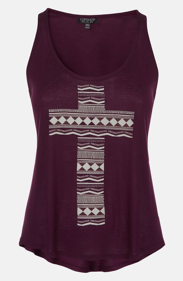 Alternate Image 1 Selected - Topshop 'Cross' Geo Print Tank