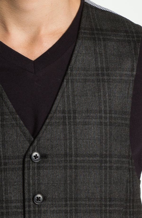 Alternate Image 3  - John Varvatos Star USA Red Label Plaid Vest