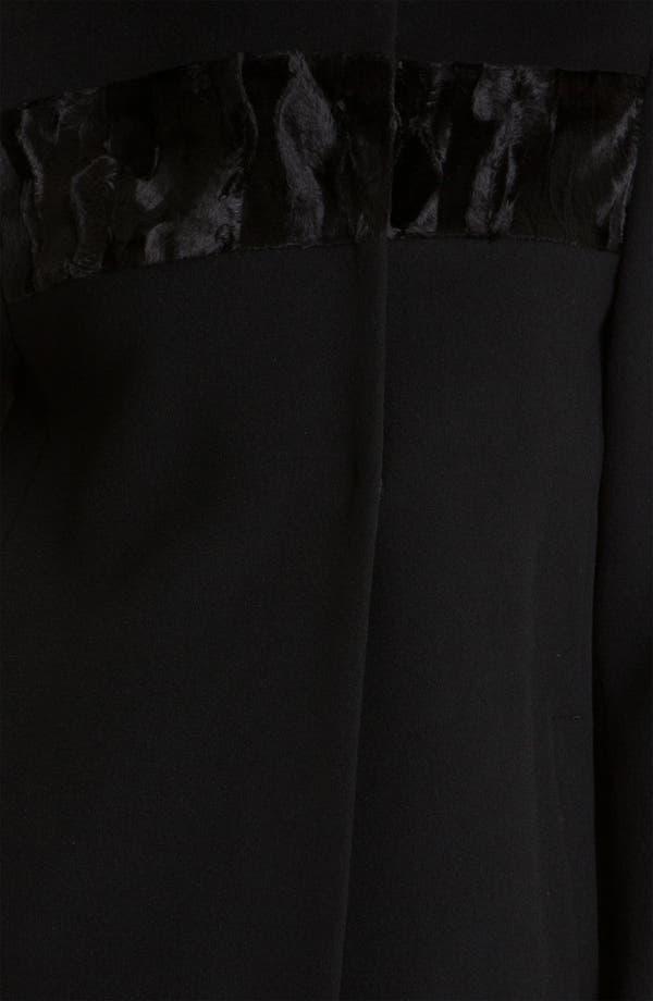 Alternate Image 3  - Elie Tahari Wool Coat with Faux Fur Yoke (Online Exclusive)