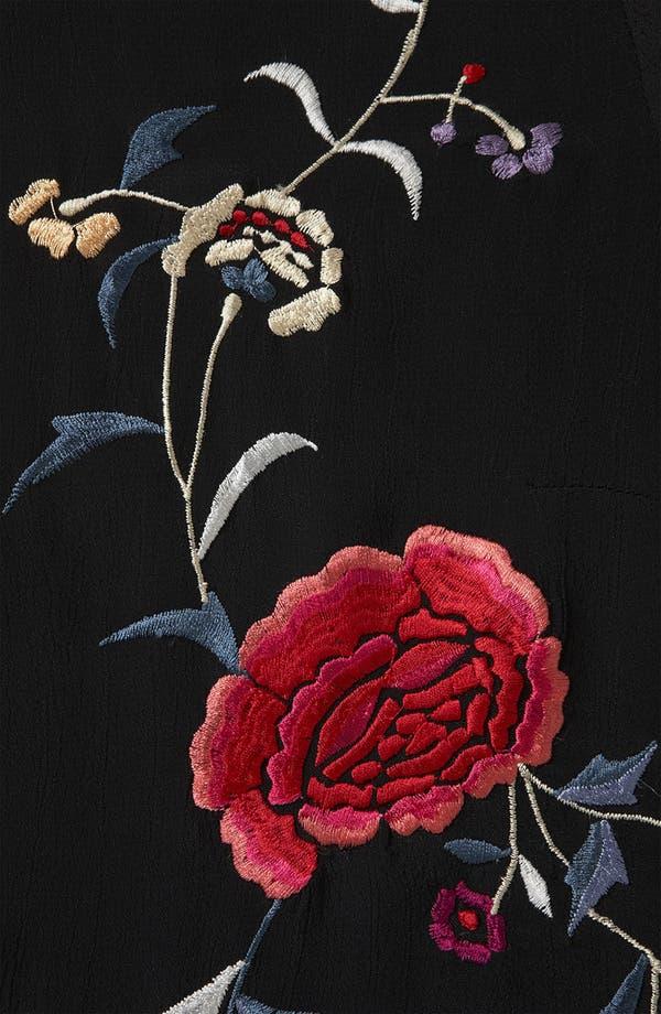 Alternate Image 3  - Topshop Floral Embroidered Shirt