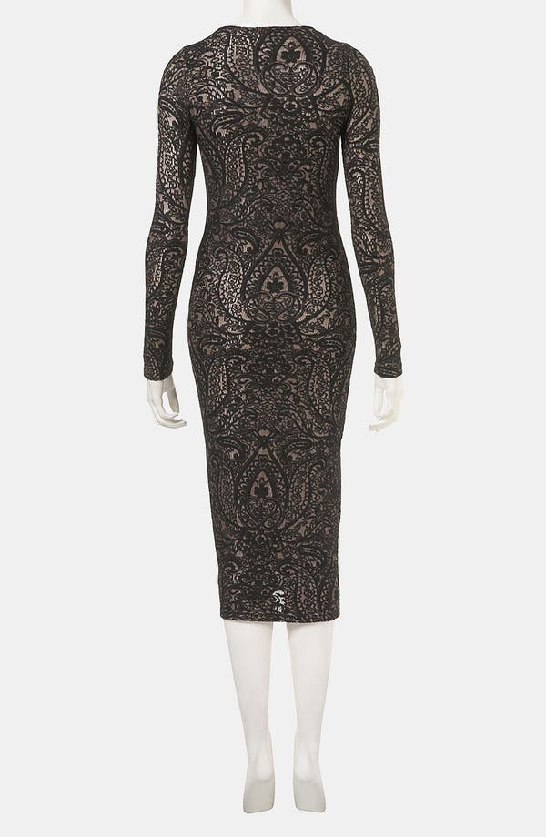 Alternate Image 2  - Topshop 'Paisley' Jacquard Body-Con Dress