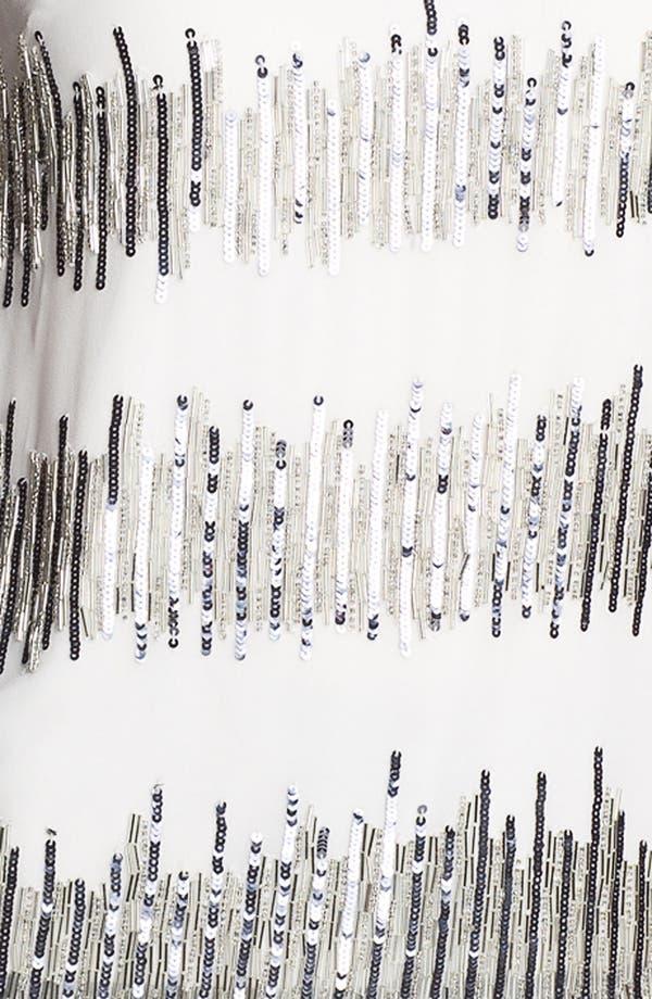 Alternate Image 3  - Adrianna Papell Short Sleeve Sequin Chiffon Blouse