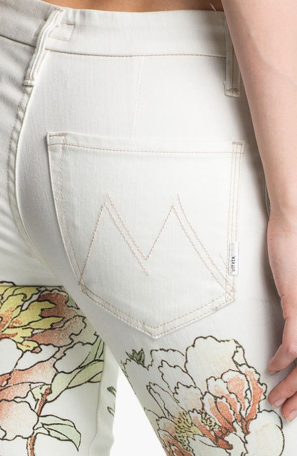 Alternate Image 3  - MOTHER 'The Looker' Mixed Print Skinny Jeans (The Scent of Sake)
