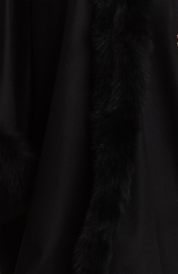 Alternate Image 3  - Dale Dressin Genuine Fox Fur Trim Cape (Plus)