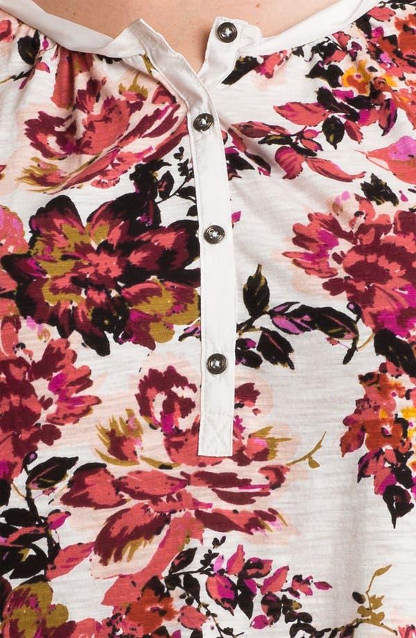 Alternate Image 3  - Lucky Brand 'Painterly Rose Kara' Top (Plus)