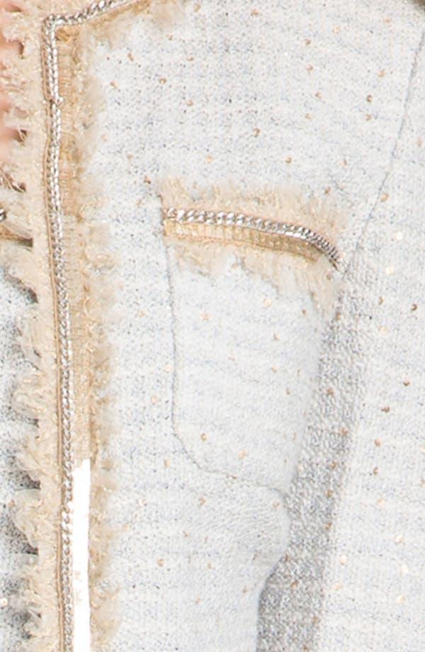 Alternate Image 5  - St. John Collection Sequin Ice Tweed Knit Jacket