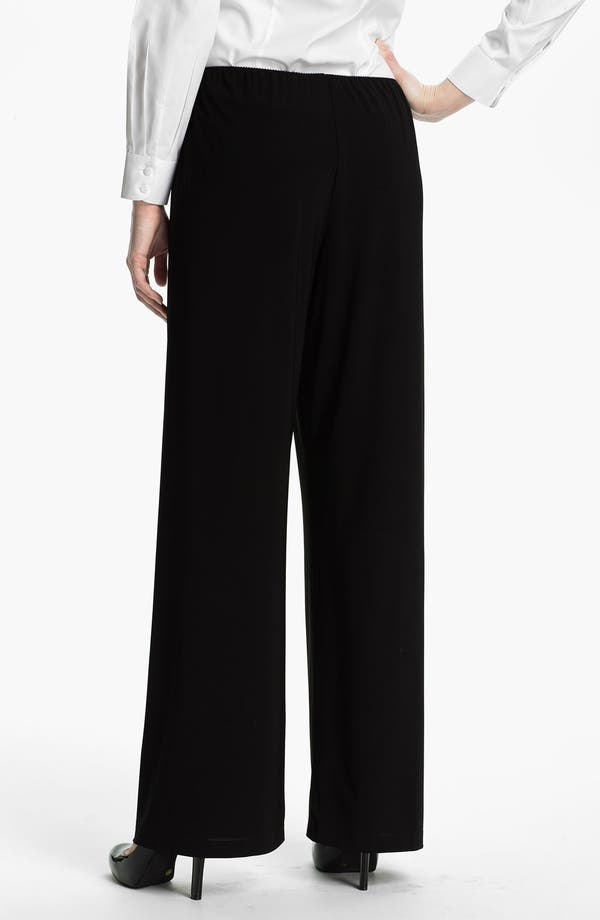 Alternate Image 2  - Alex Evenings Straight Leg Jersey Pants