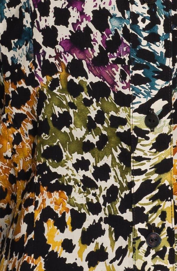 Alternate Image 3  - Foxcroft Distressed Animal Print Shirt