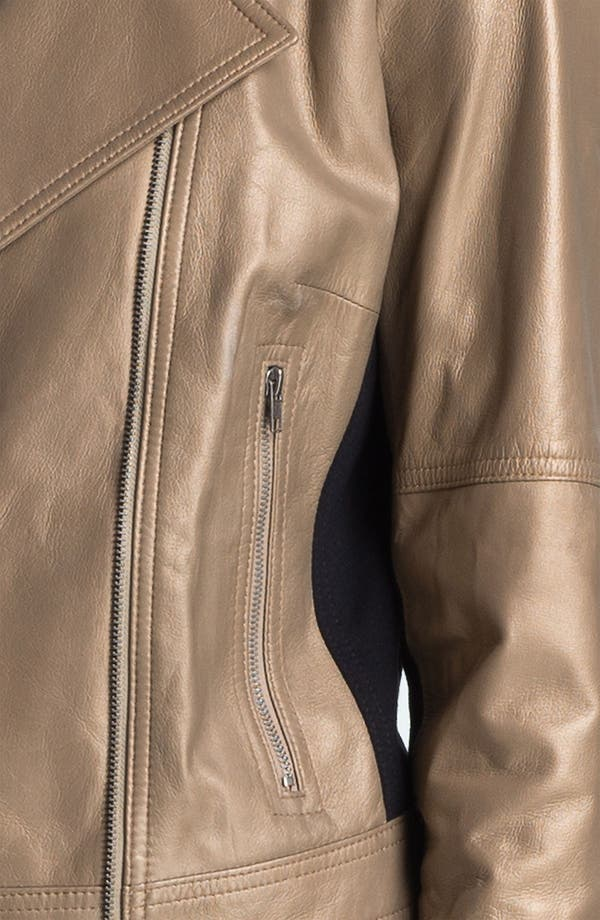 Alternate Image 3  - DKNYC Metallic Leather Motorcycle Jacket