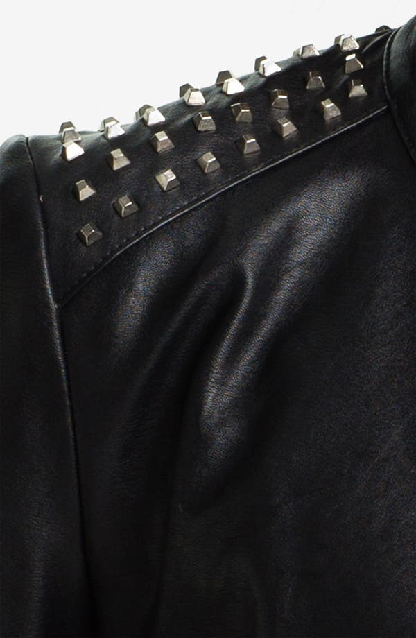Alternate Image 3  - Two by Vince Camuto Studded Faux Leather Moto Jacket