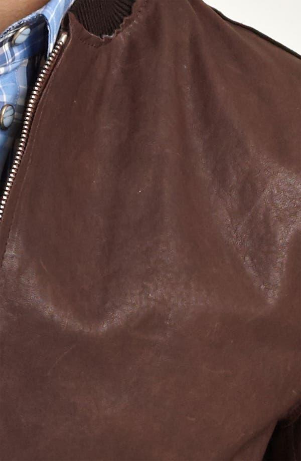 Alternate Image 3  - Dolce&Gabbana Leather Bomber Jacket