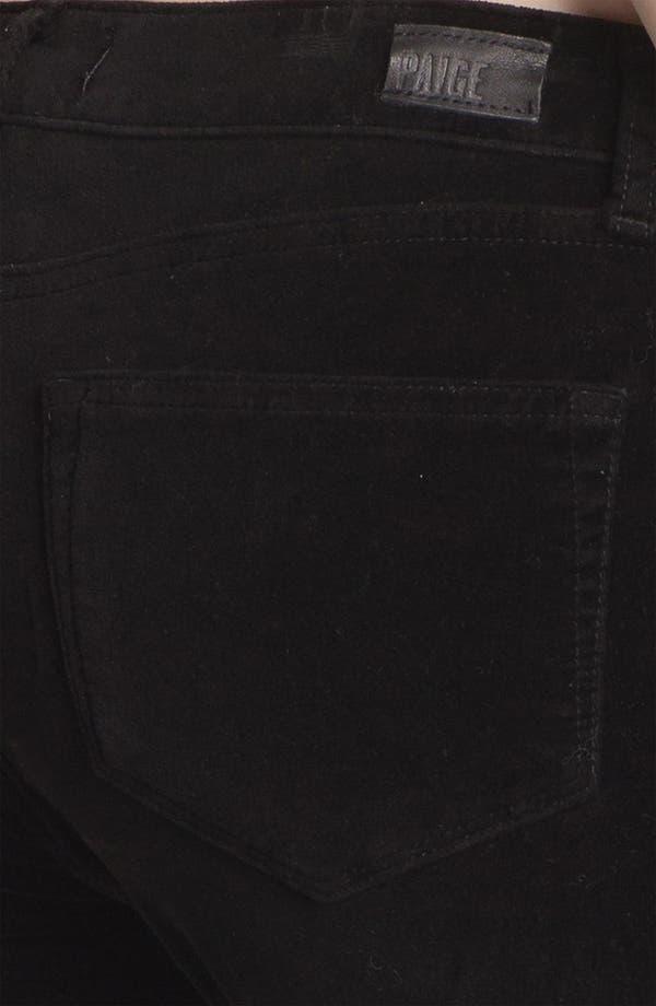 Alternate Image 3  - Paige Denim 'Verdugo' Stretch Velvet Skinny Pants (Black)