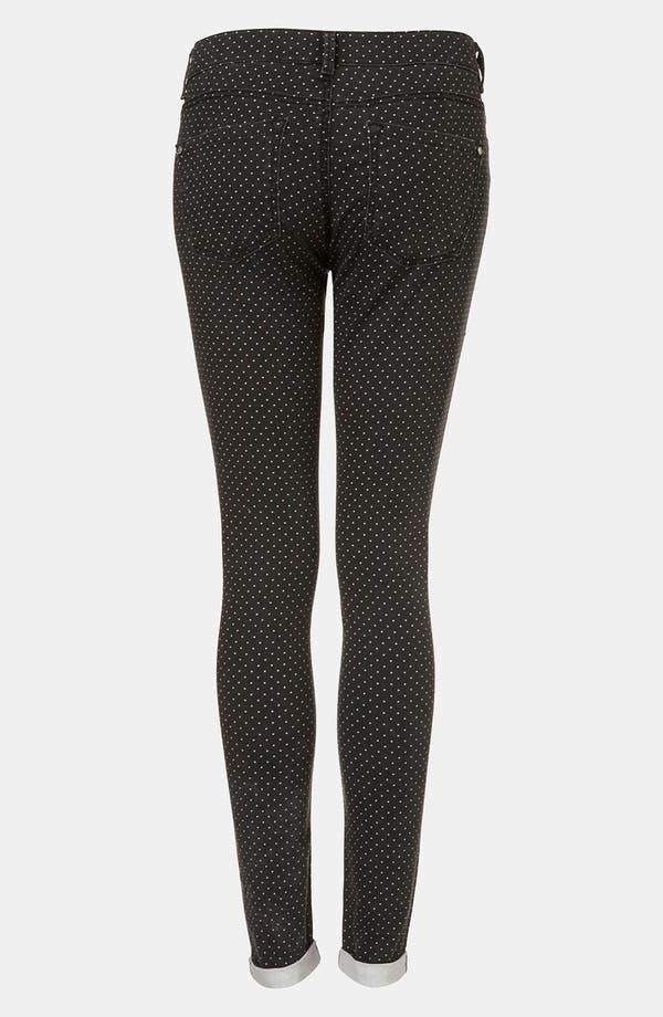 Alternate Image 2  - Topshop 'Leigh' Pin Spot Print Jeans