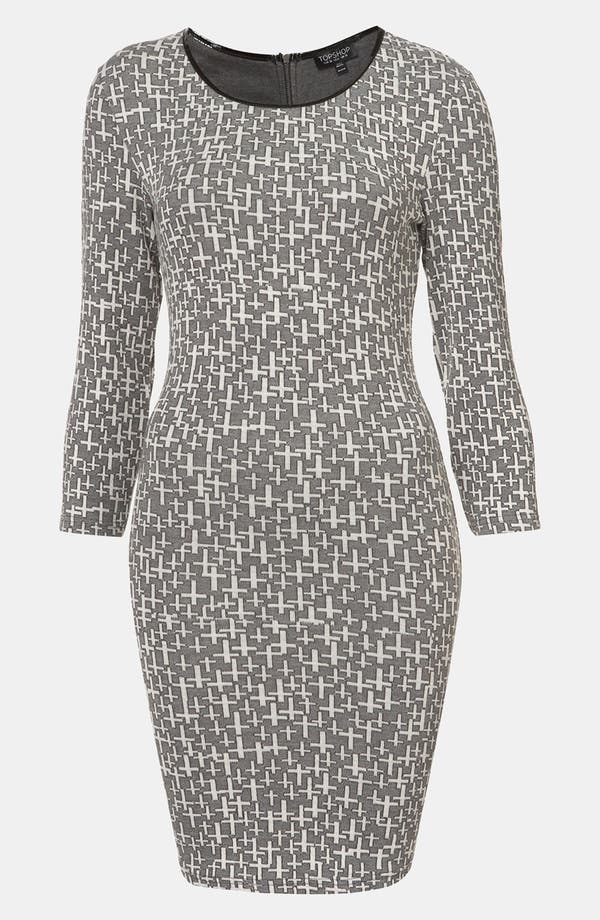 Alternate Image 1 Selected - Topshop 'Cross' Knit Dress