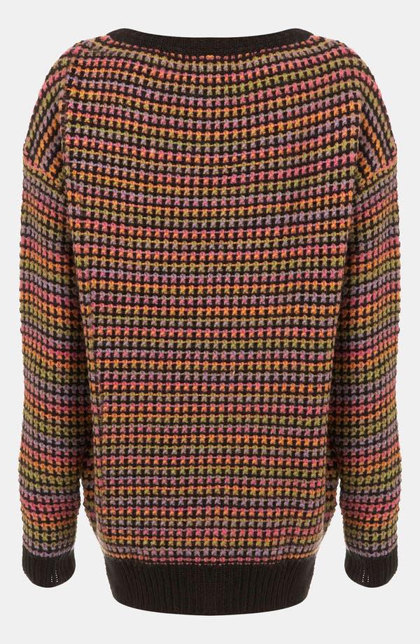 Alternate Image 2  - Topshop Rainbow Texture Tunic Sweater