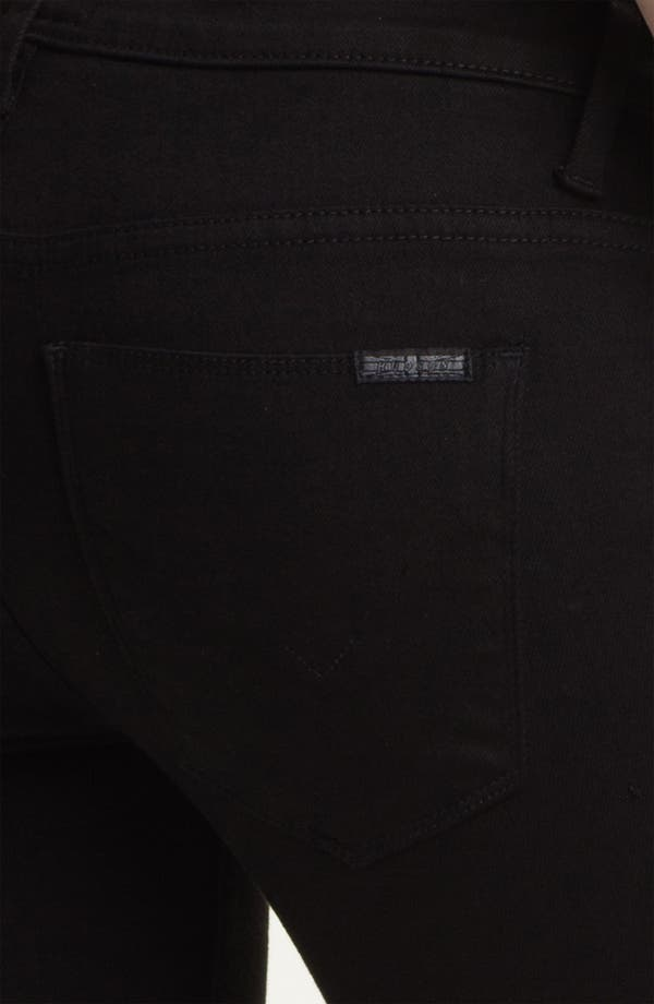 Alternate Image 3  - Hudson Jeans 'Juliette' Ankle Zip Super Skinny Jeans (Black)