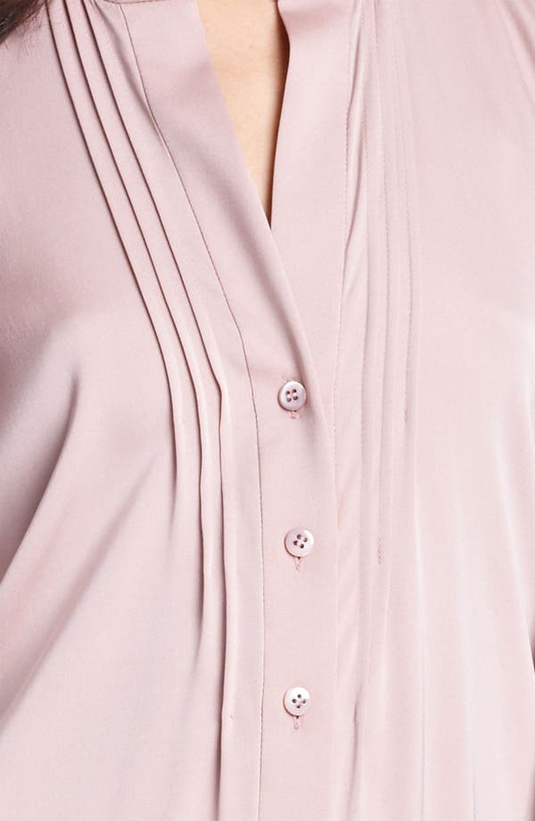 Alternate Image 3  - Armani Collezioni Pleated Stretch Silk Blouse