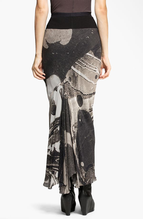 Alternate Image 2  - Rick Owens Long Print Georgette Skirt