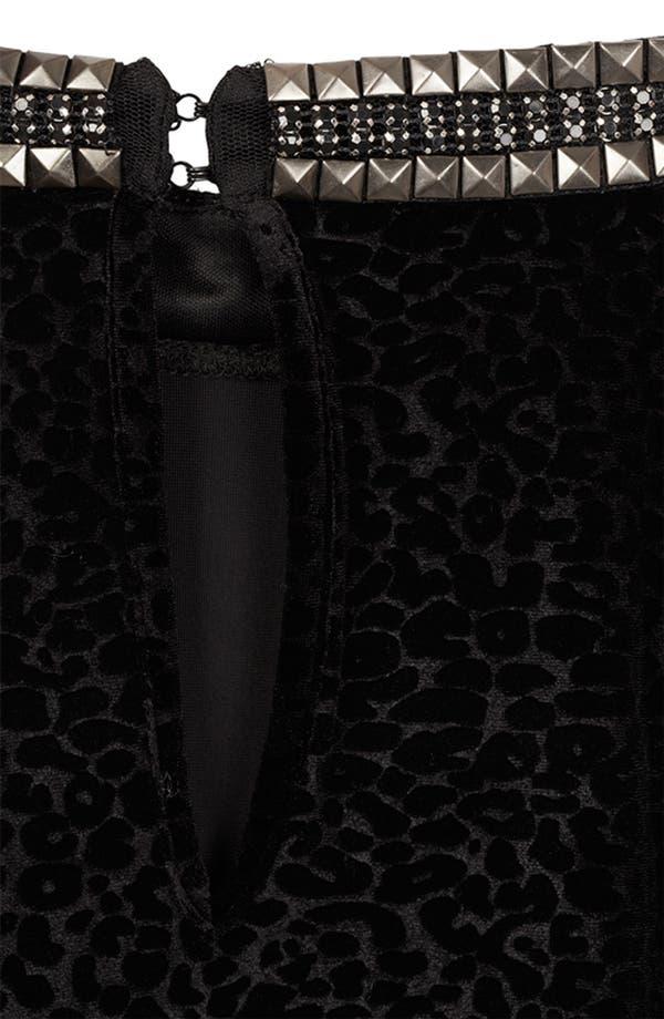 Alternate Image 3  - Topshop Stud Necklace Devore Velvet Dress