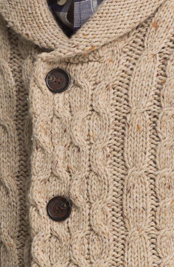 Alternate Image 3  - Topman Cable Knit Shawl Collar Cardigan