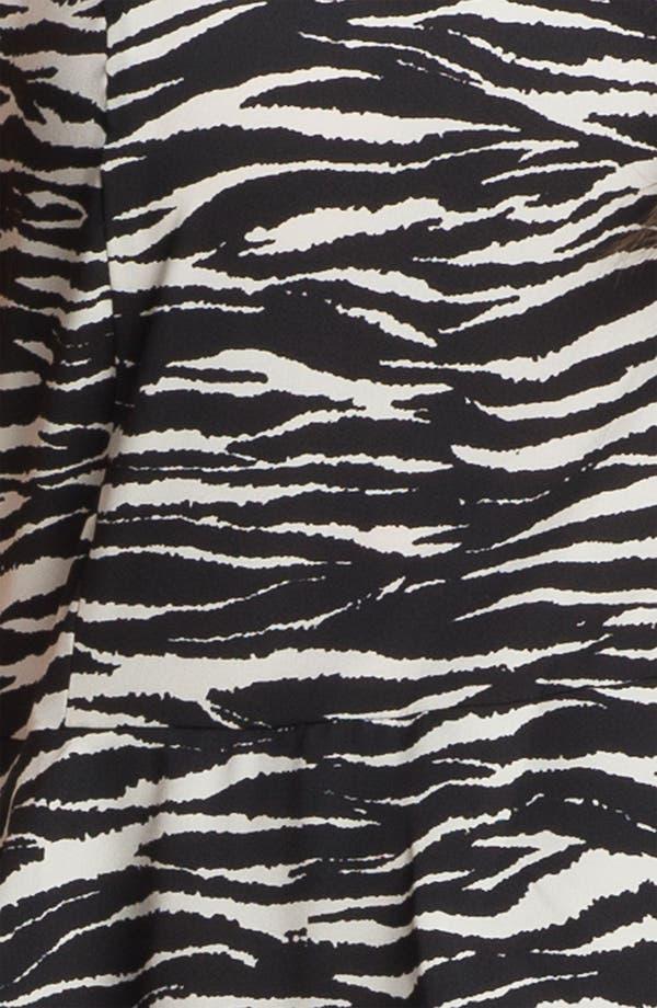Alternate Image 3  - DKNYC Crewneck Print Peplum Dress (Plus)