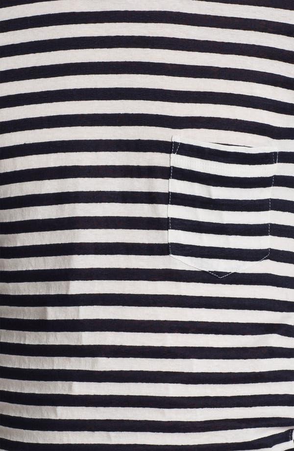 Alternate Image 3  - U Clothing 'Beau' Stripe Pocket Linen & Cotton T-Shirt