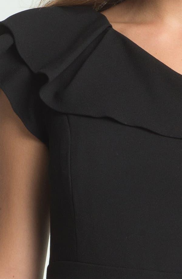 Alternate Image 3  - Max & Cleo One Shoulder Crepe Sheath Dress