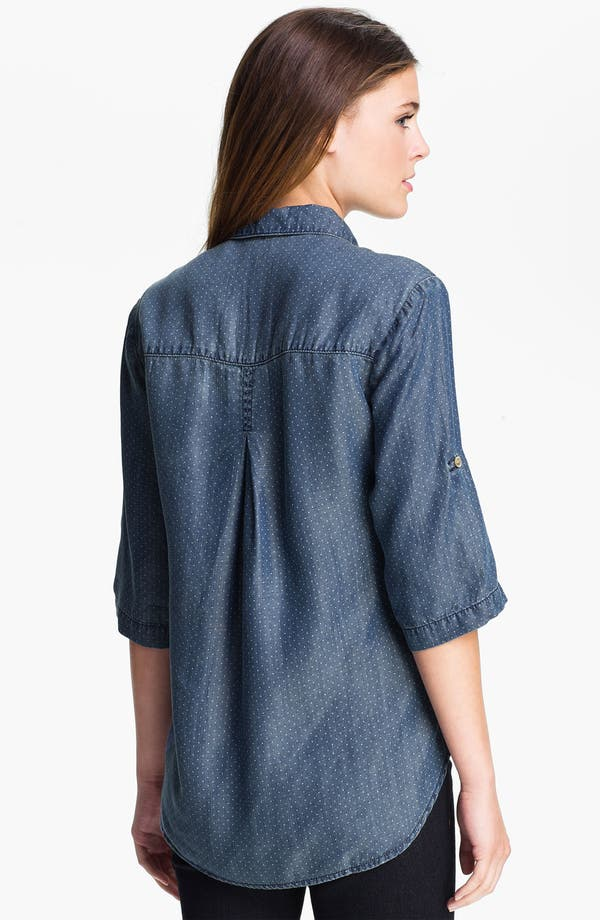 Alternate Image 2  - Side Stitch Dot Chambray Shirt