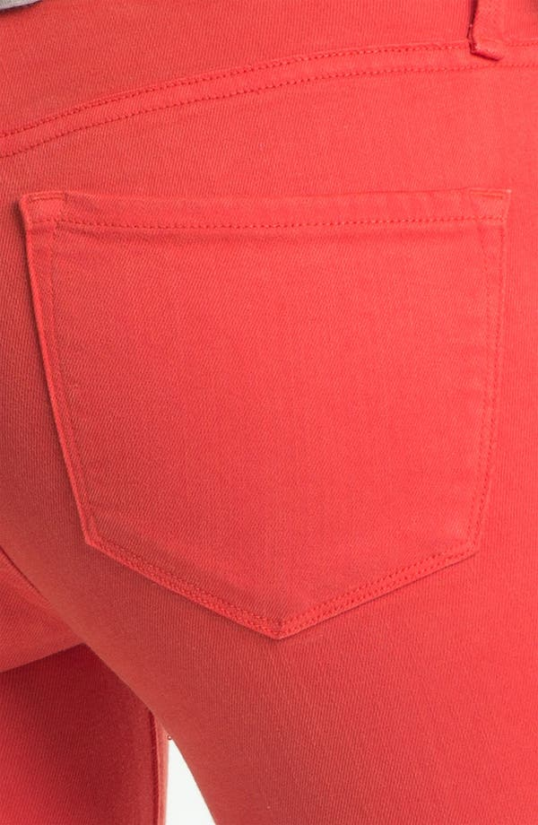 Alternate Image 3  - MARC BY MARC JACOBS 'Stick' Colored Skinny Stretch Jeans (Flamingo Red)