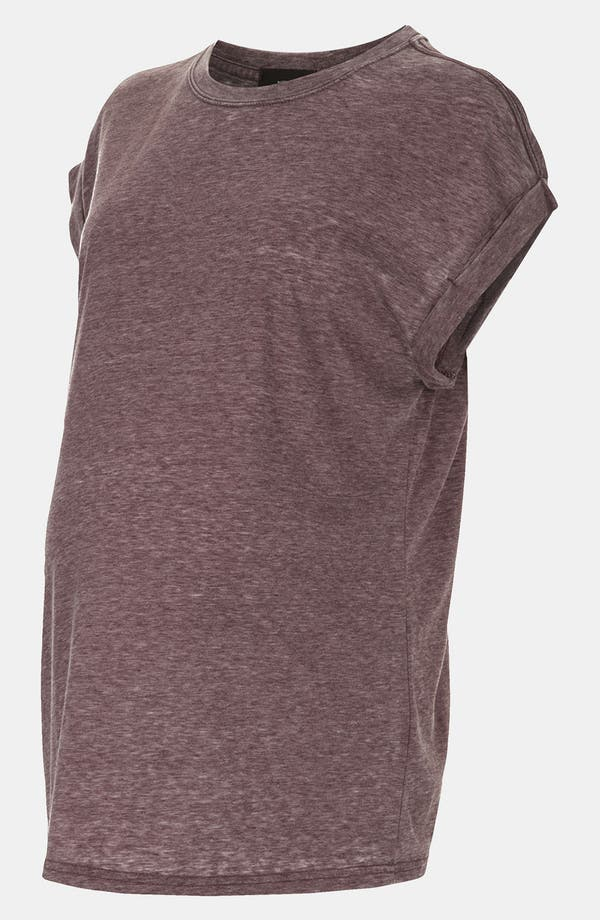 Alternate Image 1 Selected - Topshop Oversize Burnout Maternity Tee